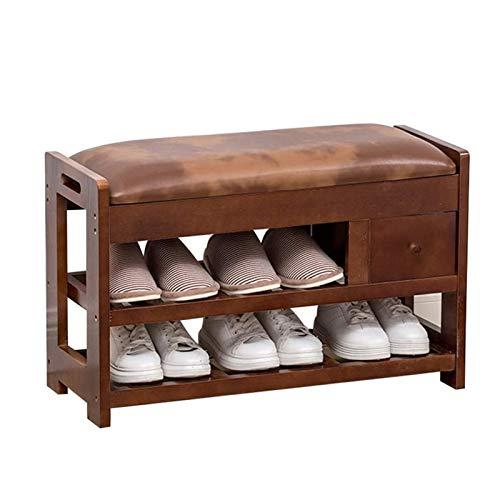 RANRANJJ Zapatero sólido Banco de Madera del Zapato Moderno Minimalista Zapato Gabinete de Habitaciones Umbral Living Home Banco de Zapatos Zapatero Simple for Almacenamiento