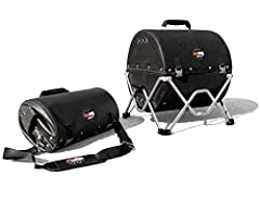 ULTRA-COMPACT: Folds down to 17% of its volume to easily fit in a backpack, drawer, or an overhead compartment. LIGHTWEIGHT: Weighs only 9 lbs. COOLS FAST: The heat-resistant fabric base and body cools down 7X faster than metal. 20-SECOND SETUP: No t...