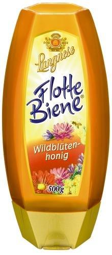 Langnese Flotte Biene Wildblüten, 4er Pack (4 x 500 g Flasche)