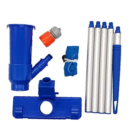 Homiki Pool-Staubsauger Mini Jet Abwischen Absaug- Portable für Pond Pool Spa Whirlpool Blue Pool Werkzeug EU-Stecker Abwischen