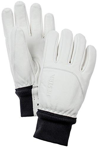 Hestra Damen Heli lang Gauntlet Leder Ski Handschuh, Damen, 30450-020020-08, weiß, 36