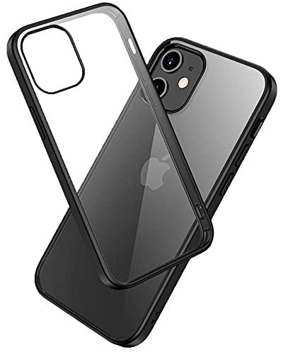 LAYJOY Funda para iPhone 12 Mini, Carcasa Ligera Silicona Negro Suave TPU...