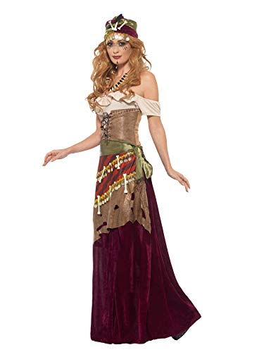 SMIFFYS Costume deluxe sacerdotessa vudù, Multicolore, con vestito, fascia, cappello e c