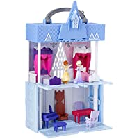 Disney Frozen Pop Adventures Arendelle Castle Playset with Handle, Including Elsa Doll, Anna Doll, & 7 Accessories