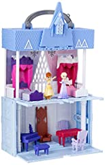 Unlock a world inside: open up the pop adventures Playset to reveal 2 pop-up floors of fun inspired by the Disney Frozen 2 movie Squishy material: the pop-up effect is delivered through the material of the Playset -- a soft plastic that collapses whe...