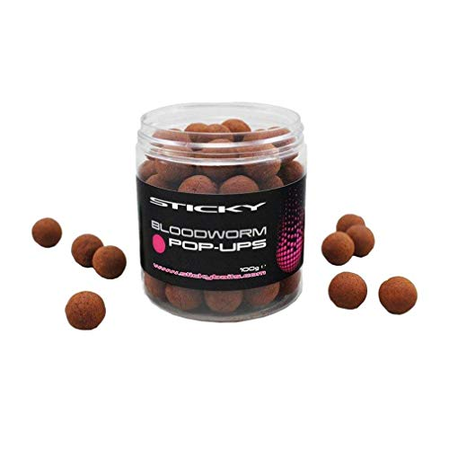 Sticky Baits Bloodworm Pop-Ups 12mm, Red, One Size