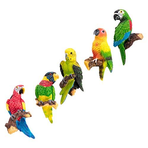SOLUSTRE 5 Piezas de Imanes de Pájaros para Refrigerador Figuras de Loro para La Oficina en Casa Etiqueta Engomada del Refrigerador Decorativo de Aves Blanco Pegatina Magnética Ornamento