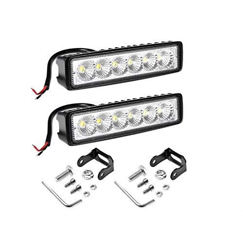 HAIHAOYF Fog Offroad OFREAD LED Trabajo Light, Luz de inundación de la Barra de 6 Pulgadas 18W 12V LED para SUV Off LED LED Trabajo Lámpara de luz Accesorios (Color : 2X foold 18W)