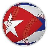 10cm! Klebe-Folie Wetterfest Made-IN-Germany Kuba-Flagge Fahne Baseball-Ball H1034 UV&Waschanlagenfest Auto-Aufkleber Sticker Decal