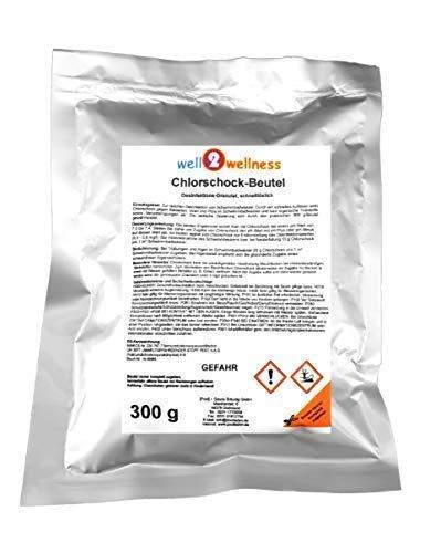well2wellness Chlorschock Beutel 300g - schnell lösliches + hochwirksames Chlorgranulat 60%