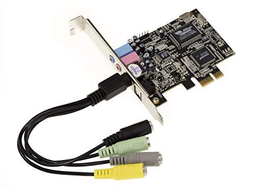 Carte PCI Express PCIe 1x Son 8 CANAUX 7.1. Chipset Via Tremor VT1723 et ASM 1083. Support Dolby et DTS. Sortie Optique.