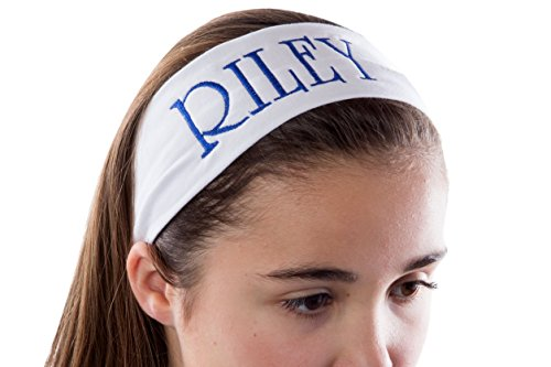Personalized CUSTOM Cotton Stretch Headband Embroidered With YOUR TEXT- 2.5 Inch (Lavender Headband)