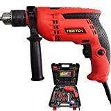 Corded Hammer Drill, Imapct Drill, Electric Screwdriver with Drill Bits Set, Variable 6-Speed for Wood, Metal, Plastic, Concrete. 104Pcs with Case