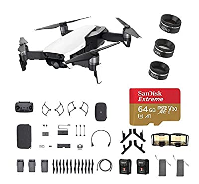 DJI Mavic Air Fly More Combo, Arctic White (2018 Version), 3-Filter Set, Landing Gear and More (White)