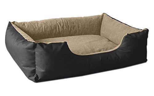 BedDog® lit pour Chien LUPI, Noir/Beige, L env. 80x65 cm,Panier Corbeille, Coussin de Chien
