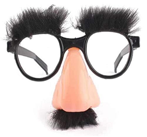 Homeupply Verkleidung Brille mit Nase Große Party Gunst mit lustigen Nase Brille Nase Schnurrbart für Halloween Kostüm Party
