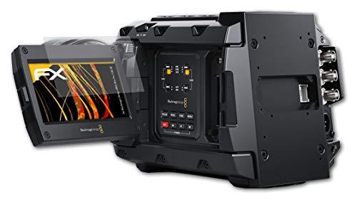 atFoliX Panzerfolie kompatibel mit Blackmagic Design URSA Mini Pro 4.6K G2 Schutzfolie, entspiegelnde & stoßdämpfende FX Folie (3X)