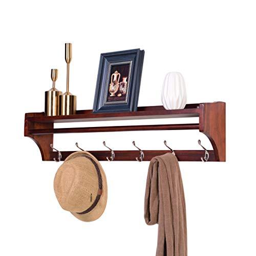 Porta carta igienica Garderobenständer Kleiderständer Wandbehang Rack Kleiderständer Eingangsschlüssel Haken Kleiderständer Hauptregal Kleidung Kette Schmuck Rack (Color : Brown, Size : 65.5cm)