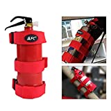 Adjustable Roll Bar Fire Extinguisher Mount Holder Strap 3 lb Fit for Jeep Wrangler Unlimited CJ YJ LJ TJ JK JKU JL JLU (RED)