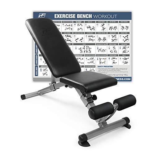 RitFit Adjustable / Foldable Utility Weight Bench for Home Gym,...