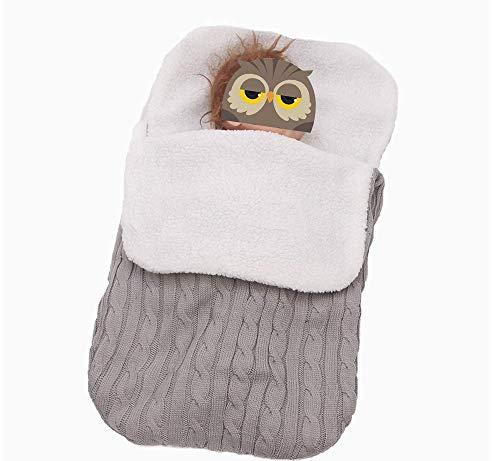 LXGKREL Baby weiche Fußsack Swaddle Wrap Decke für Kinderwagen Buggy bis zu 8 Monate All Seasons Schlafsack für Neugeborene (Hellgrau)
