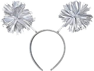 Amscan Pom Pom Headbopper, Party Accessory, Silver