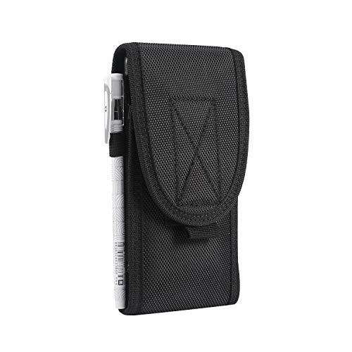 Bolso de un teléfono portátil Universal de 4,0 a 5,3 pulgadas táctico de MOLLE Funda Ejército del teléfono móvil Bolsa de cinturón de teléfono móvil for el iPhone SE 2020/11 Pro / 8/7/6 / XR / XS / X