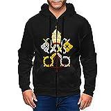 Camiseta de manga larga con capucha y capucha para hombre, diseño de escudo nacional del Vaticano, multicolor, M