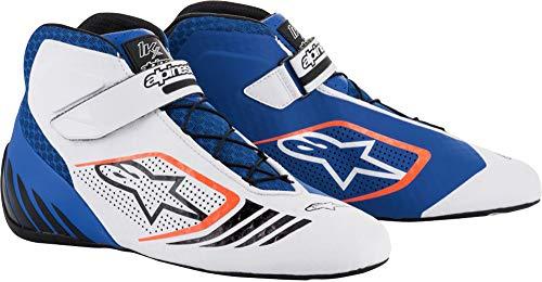 Alpinestars Tech-1 KX Karting Zapato para hombre, azul/blanco/naranja, 7.5