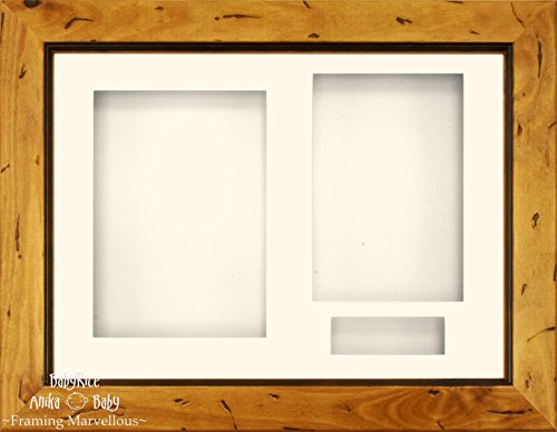 Anika-Baby BabyRice 3D 120-R Box, env. 29 x 21,5 cm, bois de pin, avec passe-partout crème avec 3 ouvertures