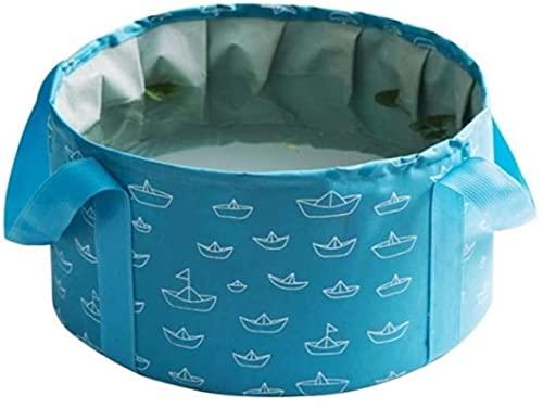 chengsheng Lavabo Plegable 10 / 16L Lavabo de Agua de Viaje Plegable portátil Cubo de remojo de pies cubeta de Tela de Gran Capacidad Cubo de Pesca Plegable