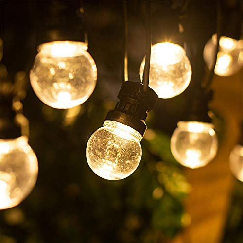 Aigostar - Led-lichtsnoer, 6 W, 8 m, warm licht, 3000 K, 10 ronde en transparante gloeilampen, IP44, waterdicht, perfect voor buiten, feest, tuin, Kerstmis.