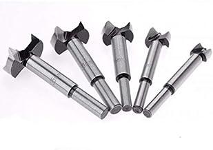 5PCS Forstner Wood Drill Bit Self Centering Hole Saw Cutter Woodworking Tools Set 15mm,20mm,25mm,30mm,35mm Forstner Drill ...