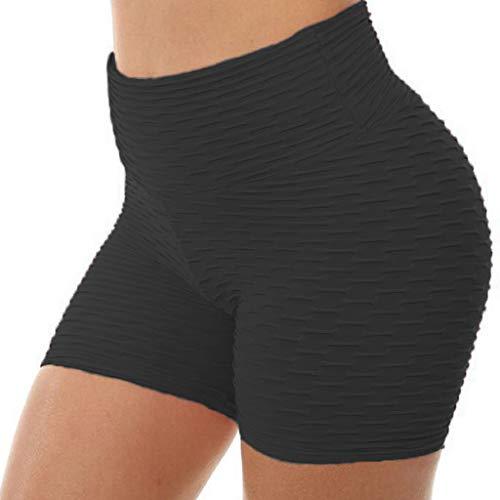 SALUCIA Leggings Damen Sport Shorts High Waist Sporthose Push up Kurze Jacquard Yogahose Yoga Leggins Fitness Gym Jogginghose Hauteng Hosen Tights für Frauen