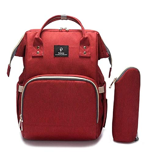 The Ultimate Best Diaper Bag Backpack By Pofunuo With USB Interface, Waterproof (red)