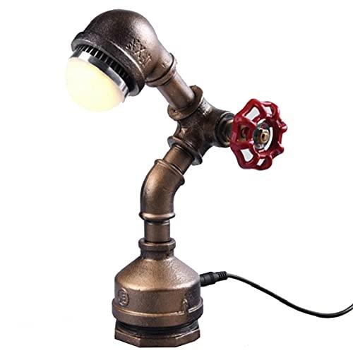YANGLIXIA Robot Lamp Industrial, Lámpara de Tubo de Agua Retro de la Industria, lámpara de Mesa de Robot de Steampunk Lámpara de óxido Retro para Escritorio Dormitorio de ofic