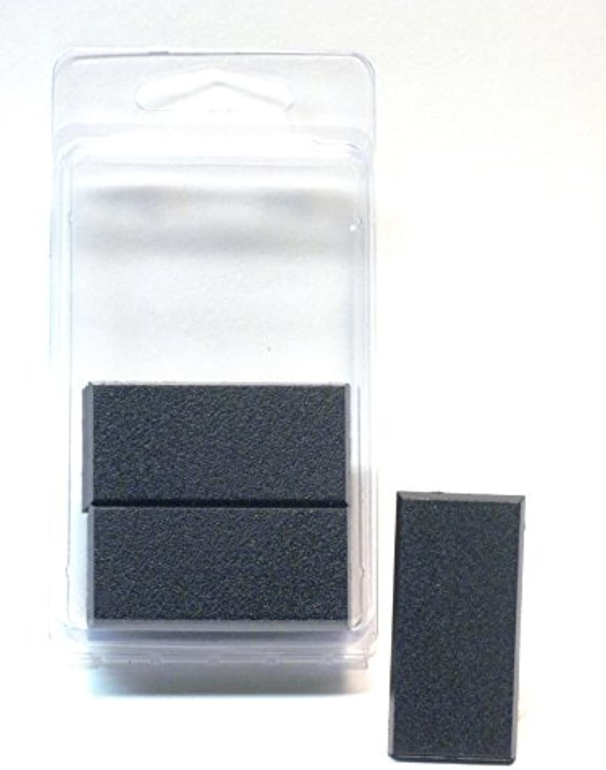 Value  50MM x 25MM Square Rectangle Black Miniature Model Cavalry Bases for TableTop or Miniature WarGames by Hedral