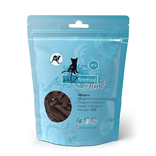 catz finefood Meatz Katzen Leckerlies Känguru N° 13 - knusprige Streifen aus 100 Prozent Kängurufleisch - Katzensnack für Allergiker ohne Zucker, getreidefrei, 45g