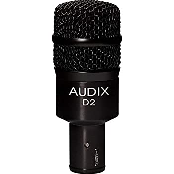 Audix D2 Dynamic Hypercardioid Drum Instrument Microphone with 1 Year Free Extended Warranty