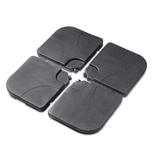 Sekey Ampelschirmständer Marktschirmständer Kurbelschirmständer Sonnenschirmständer für Bodenkreuz,schwarz,60-80kg(Ampelschirmständer für Boden