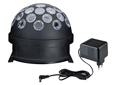 KHL Led Discokugel 22cm schwarz 4W 12V Netzteil Party Lampe KH32971