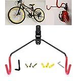 自転車壁掛けフック SCLIFE 自転車ハンガー バイクハンガー バイクスタンド 自転車ディスプレイ 壁 ディスプレイ ラック 自転車ホルダー 角度 調整 収納可能 (レッド)