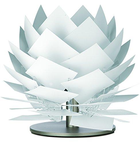 Dyberg Larsen PineApple XS Weiß Tischlampe skandinavisch / moderne Nachttisch-leuchte / LED Tischleuchte / Nordisches Design Durchmesser: 18 cm Höhe: 22 cm G9