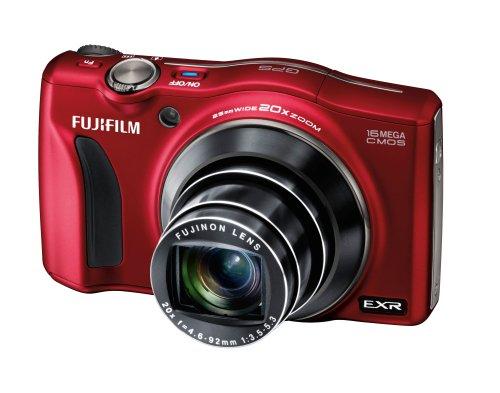 Fujifilm FinePix F770EXR Digitalkamera (16 Megapixel, 20-fach opt. Zoom, 7,6 cm (3 Zoll) Display, bildstabilisiert) rot