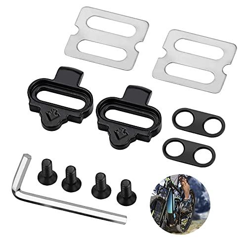 otutun Kit de Tacos de Bicicleta, Sujecion Pedal ,Tacos de Pedal de Bicicleta, Placa de Pedal de Bloqueo de Bicicleta de Montaña de Carretera Interior Cleat Set Compatible con Shimano SPD