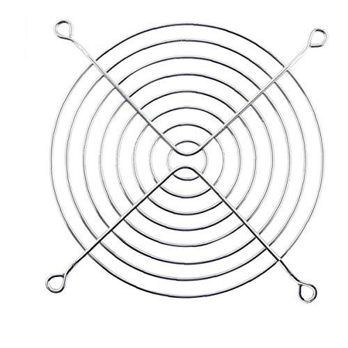 TOSSPER 120 Mm De Metal Plateado Ordenador Aficionados Grill Dedo Protector De La Cubierta De Protección del Ventilador Red De La Rejilla para La Caja De La Pc del Ventilador De Refrigeración