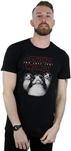 STAR WARS Hombre The Last Jedi Porgs Camiseta