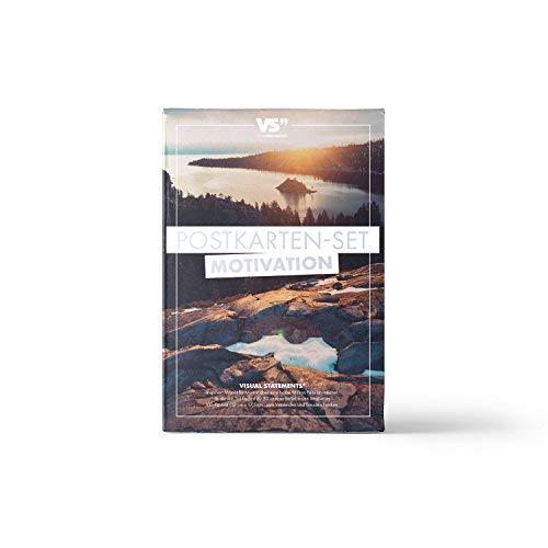 VISUAL STATEMENTS® 20er Postkarten Set LIEBE, FREUNDSCHAFT; GLÜCKSBRINGER mit Sprüchen / 2 verschiedene Varianten / 20 verschiedene hochwertige Spruchkarten (Motivation)