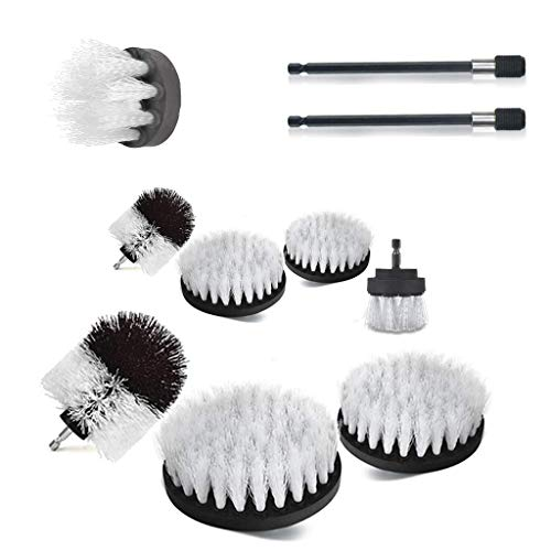 Hothapset met 9 boorborstelopzetstukken voor het uitbreiden van het lange opzetstuk voor badkamerreinigers.