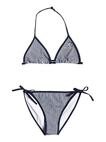 Roxy Early Conjunto De Bikini Tiki Tri para Chicas 8-16 Conjunto De Bikini Tiki Tri, Niñas, Mood Indigo Vogia S, 16